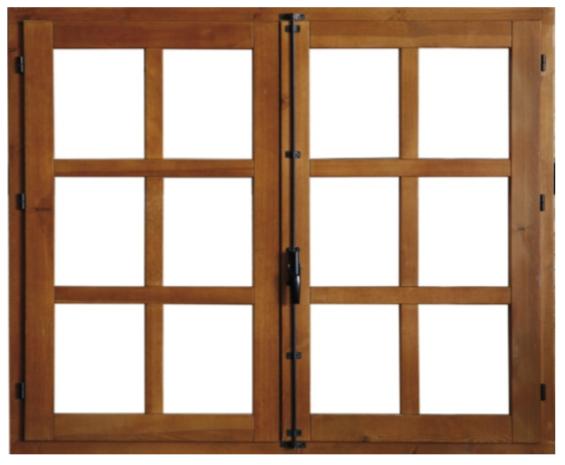 Materiales: ventanas de madera.