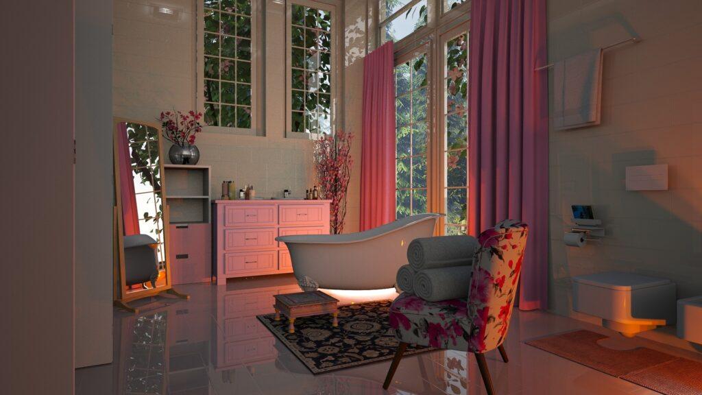 pintar una habitación - rosa