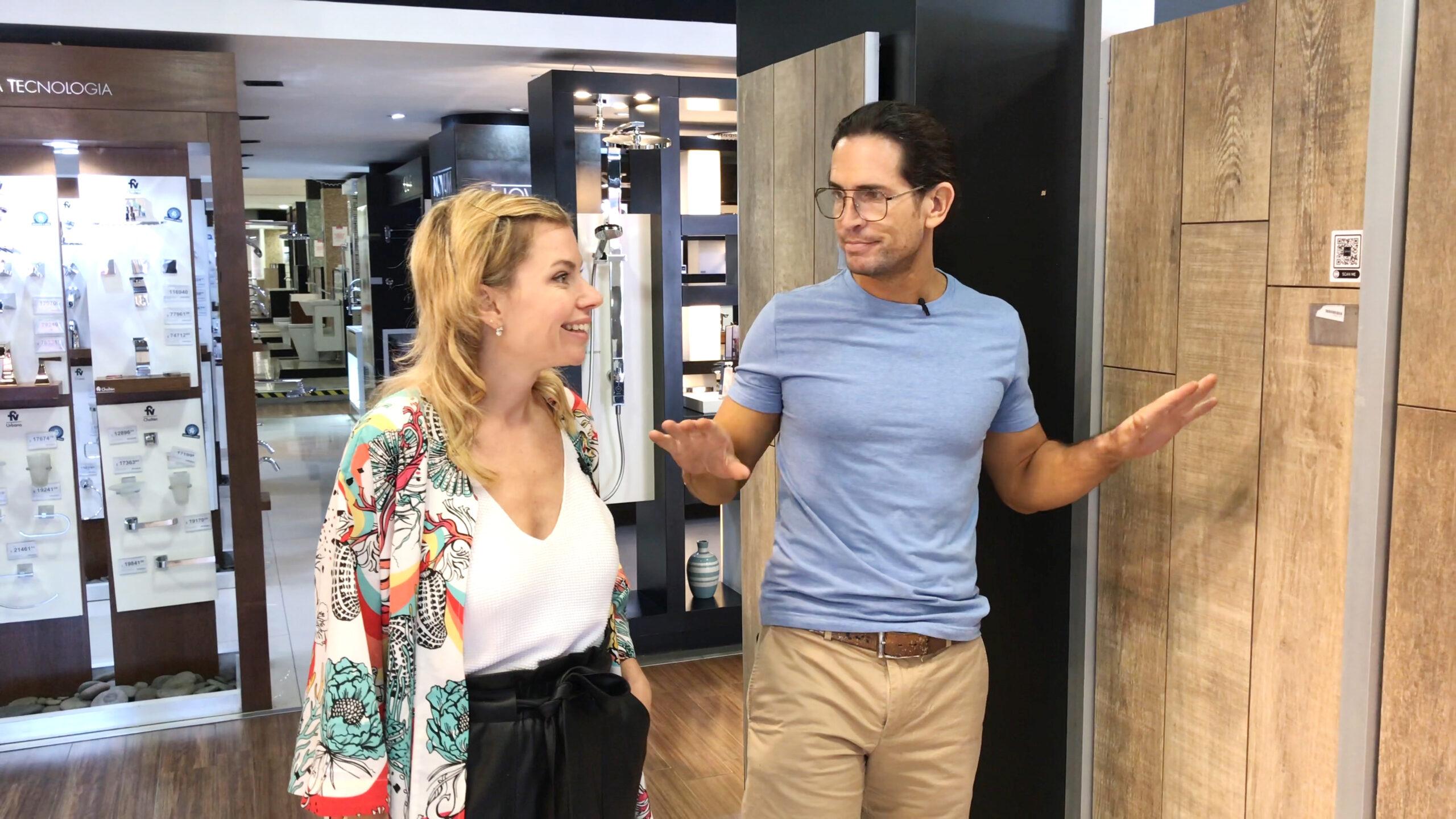 Trinidad Reina y Diego Ramos en cómo elegir un porcelanato